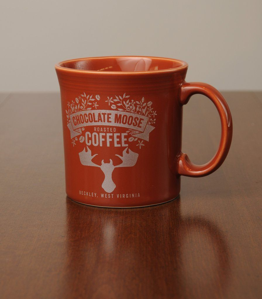 Chocolate Moose logo Fiestaware mugs by Homer Laughlin - Paprika ...