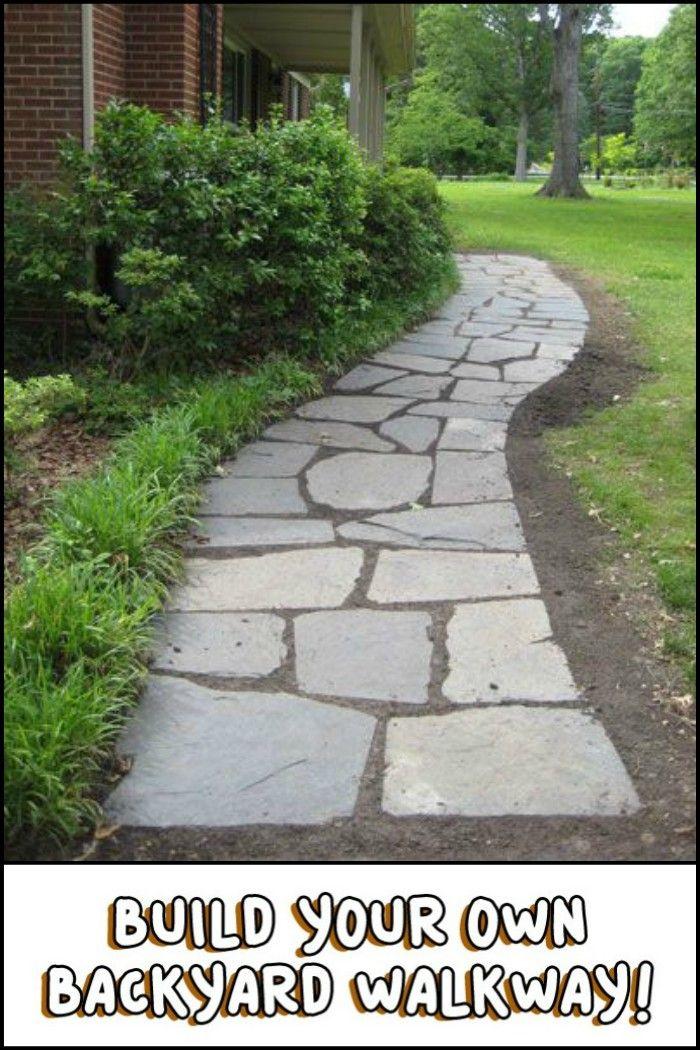 Build your own backyard flagstone pathway Gardens Pinterest