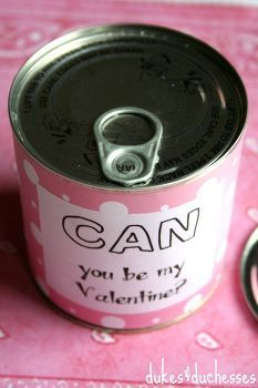 pop top valentine in a can, crafts, repurposing upcycling, seasonal holiday d cor, valentines day ideas, a pop top valentine in a can