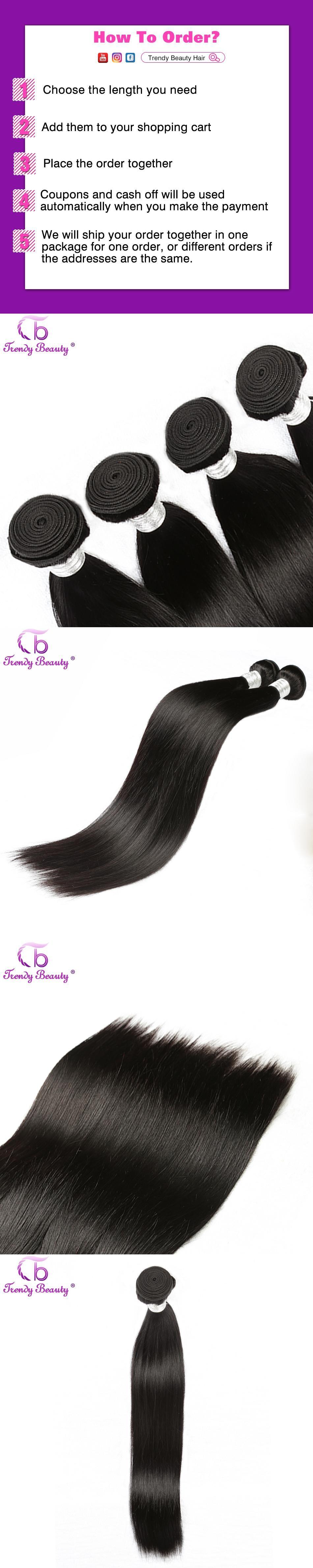 Trendy Beauty Non Remy Hair Brazilian Straight Weave Bundle 100
