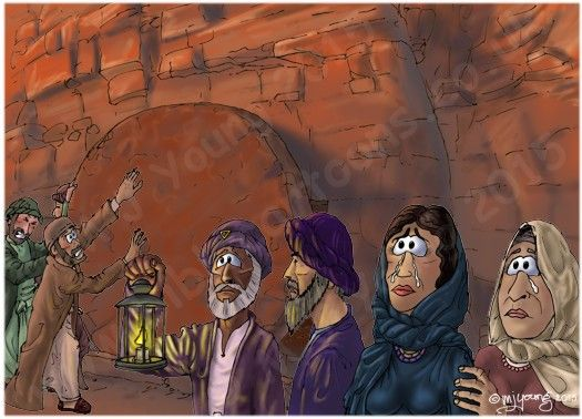 Mark 15 - Burial of Jesus - Scene 05 - Tomb stone | Vacation Bible ...