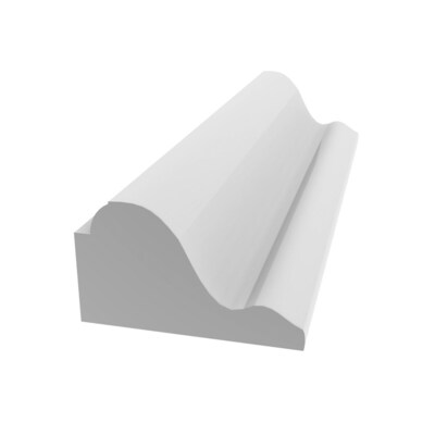 Royal Building Products 1 1 4 In X 8 Ft Unfinished Pvc Base Cap Moulding Actual 1 125 In X 8 Ft At Lowes Com Pvc Trim Pvc Picture Frame Molding
