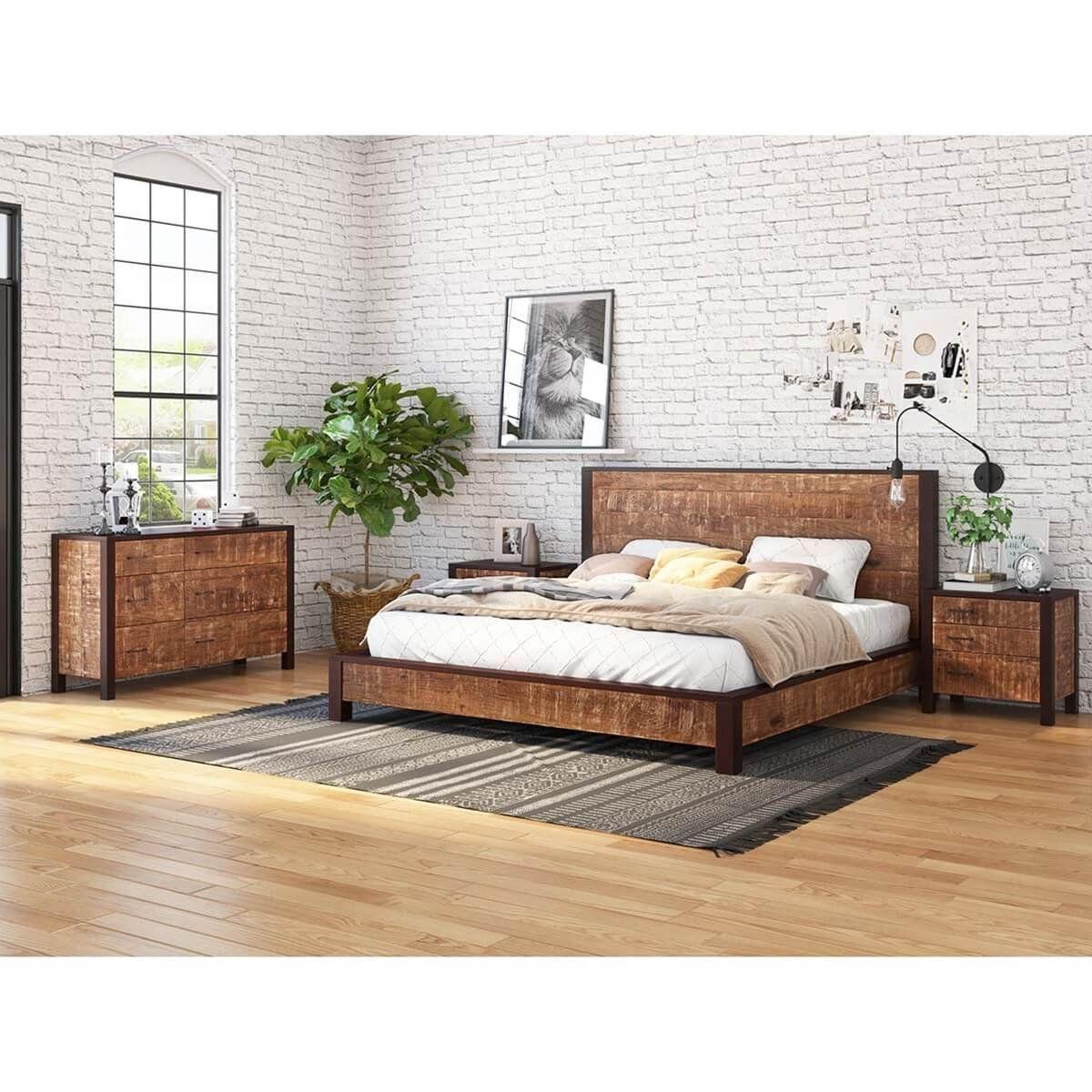 Solid Oak Bedroom Set New Orleans Solid Wood 4 Piece Bedroom Set Wood Bedroom Sets Bedroom Set Oak Bedroom