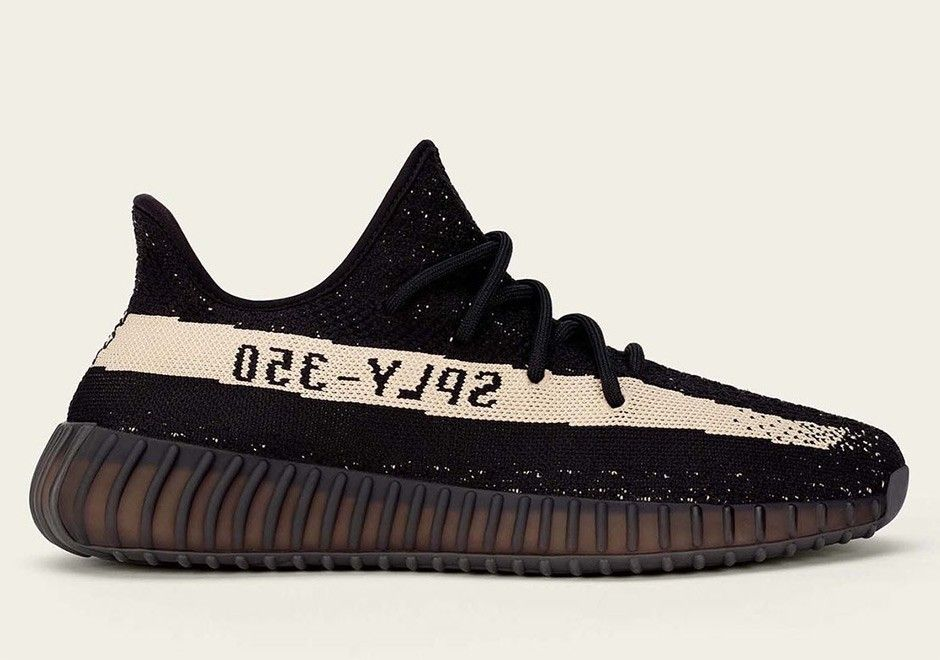 12025f0a06c Soldes Adidas Yeezy Boost 350 V2 Noir Blanche BY1604
