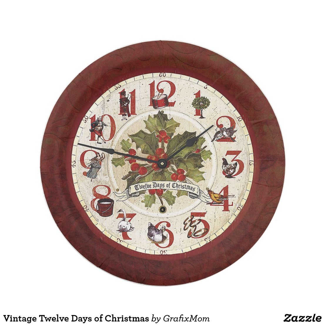 Vintage Twelve Days Of Christmas Paper Plate Zazzle Com Christmas Paper Plates Twelve Days Of Christmas Dollhouse Christmas