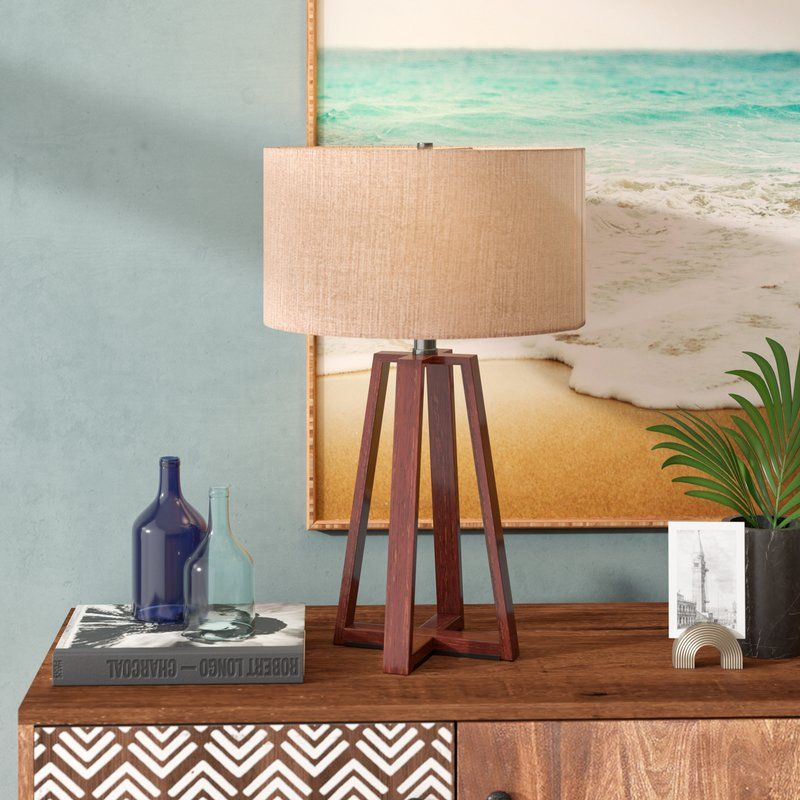Mackenzie 24 Table Lamp Geometric Table Lamp Lamp Table Lamp Wood