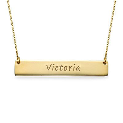Personalized Gold Bar Necklace Bar Necklace Gold Bar Necklace Name Necklace