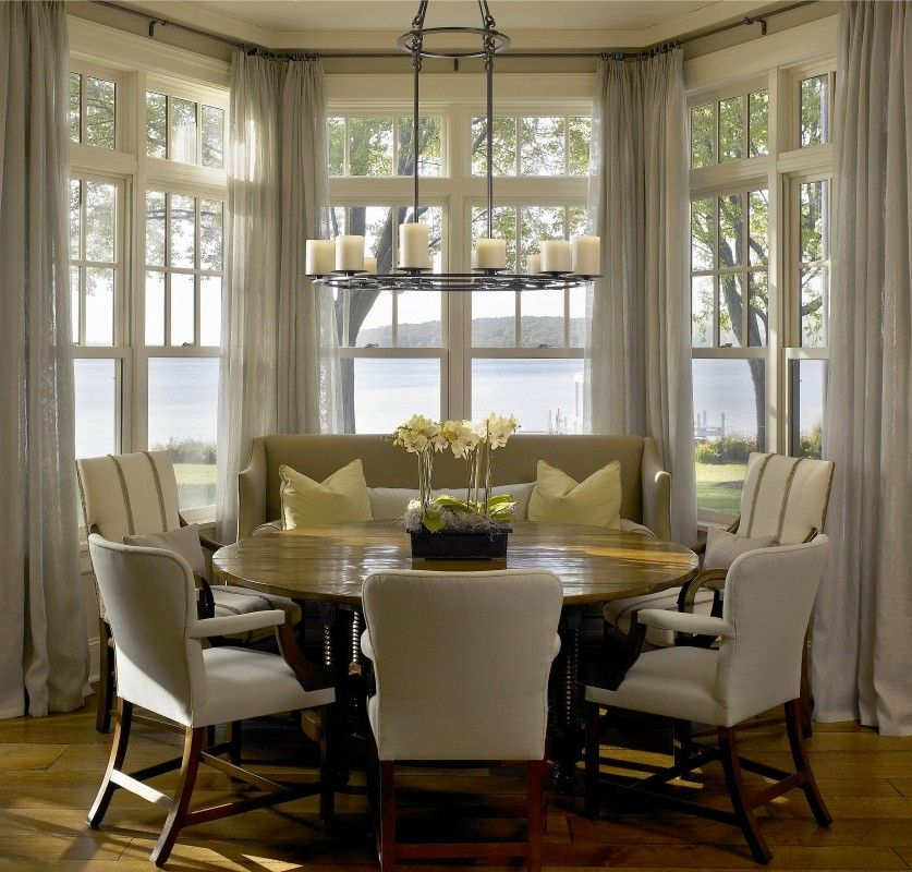 Breakfast Nook Curtains On Pinterest Bay Window Blinds Picture Win Julian Miles Casual Dining Rooms Dining Nook Dining Room Inspiration