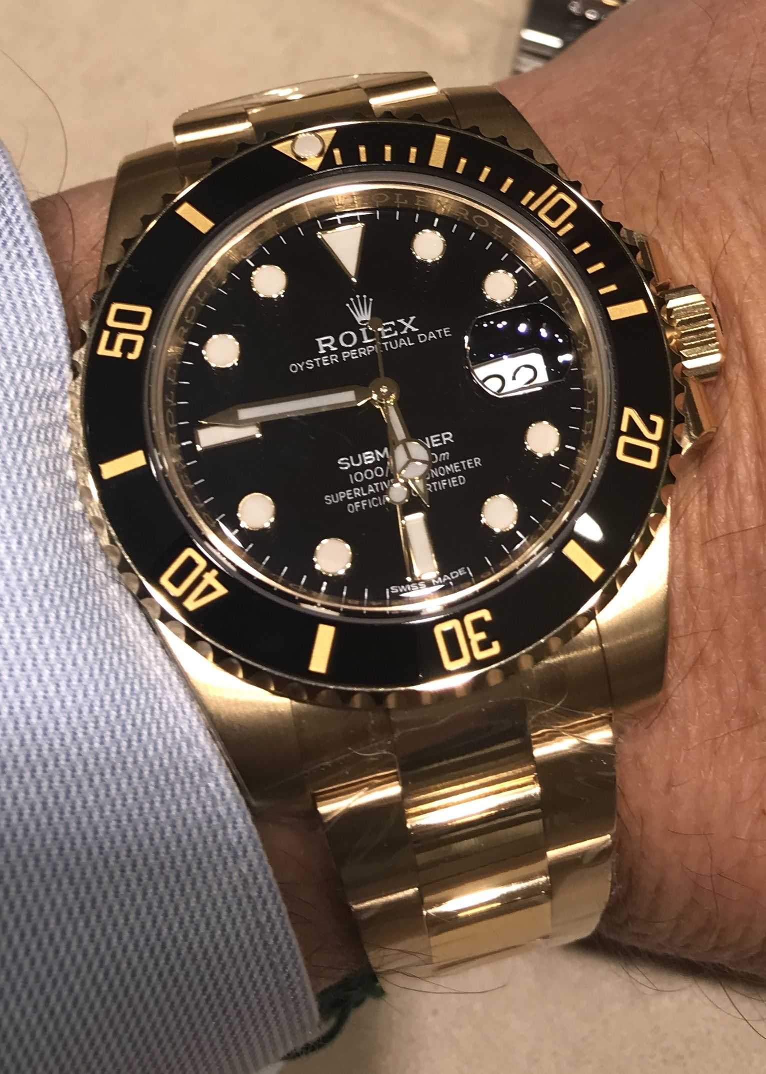 Rolex Submariner With Black Dial 116618
