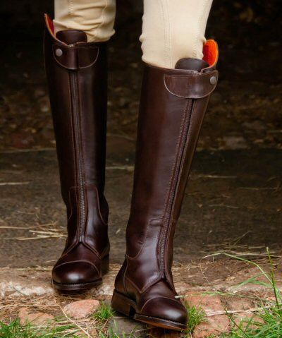 Chic New Fashion Mens Leather Mid calf KNee High Riding Equestrain Boots