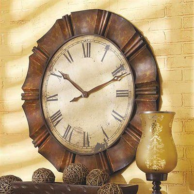 Midwest Cbk 43546 Large Antique Copper Wall Clock Clock Wall Decor Oversized Wall Clock Round Wall Clocks
