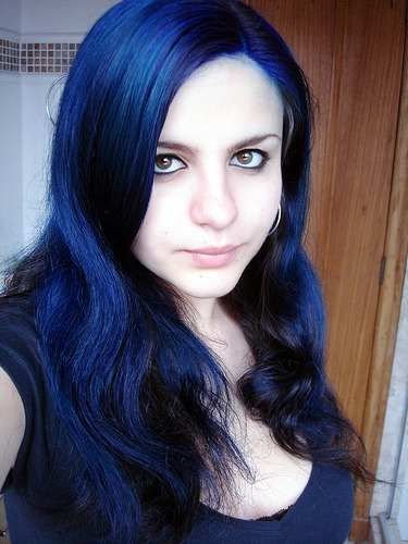 manic panic after midnight blue this shall be the color i do after this last round bright blue hairdark - Midnight Blue Black Hair Color
