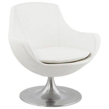 fauteuil moderne et pivotant raol blanc fauteuil moderne fauteuils et fauteuil blanc. Black Bedroom Furniture Sets. Home Design Ideas