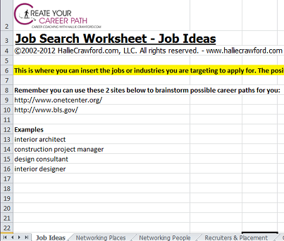 job search worksheet - Magdalene-project.org