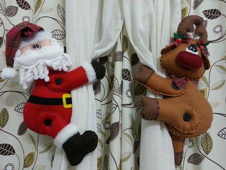 Prendedor de Cortinas de natal navidad Pinterest Prendedor