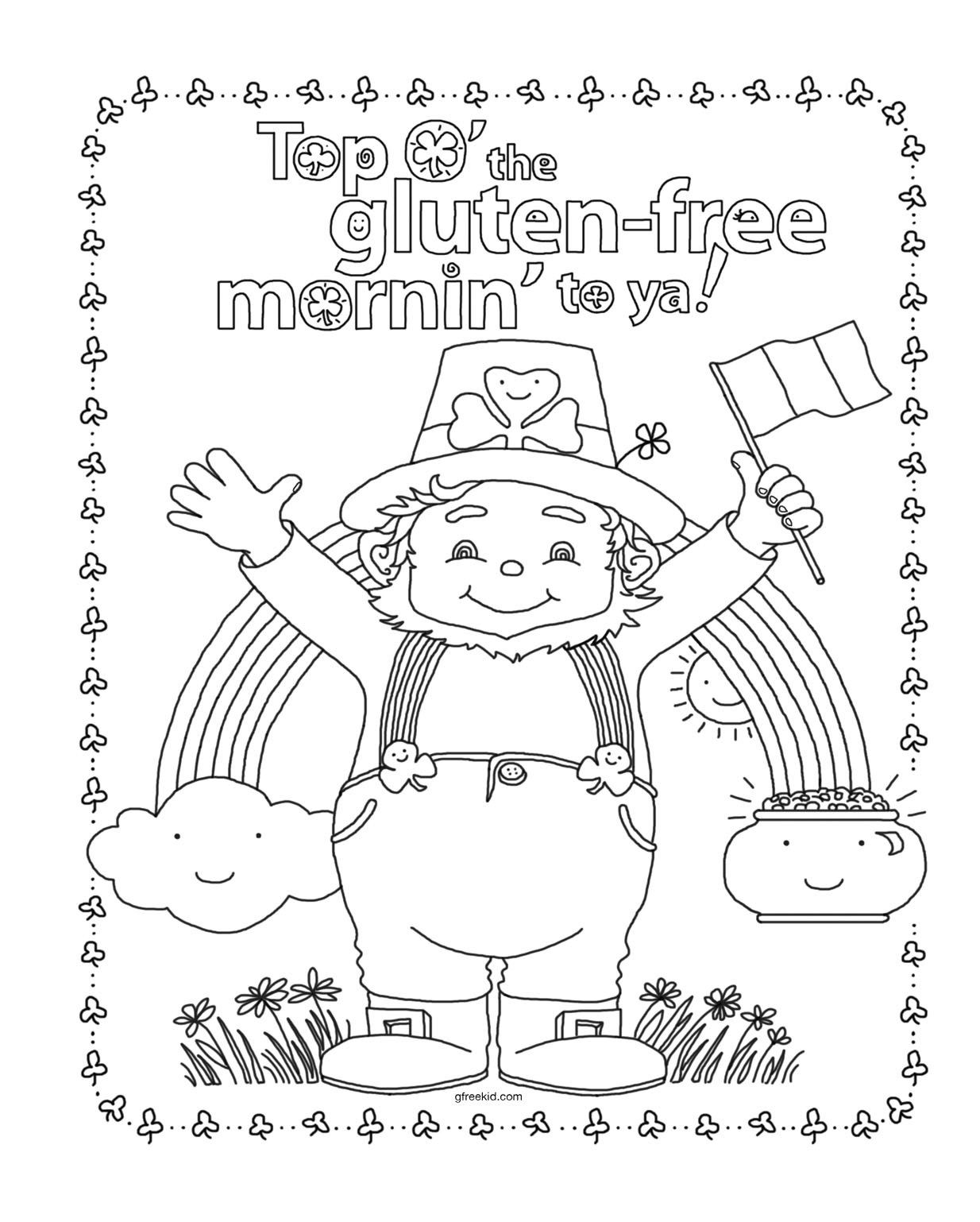 St. Patrick\'s Day Coloring Pages Crayola   recipes   Pinterest   Recipes