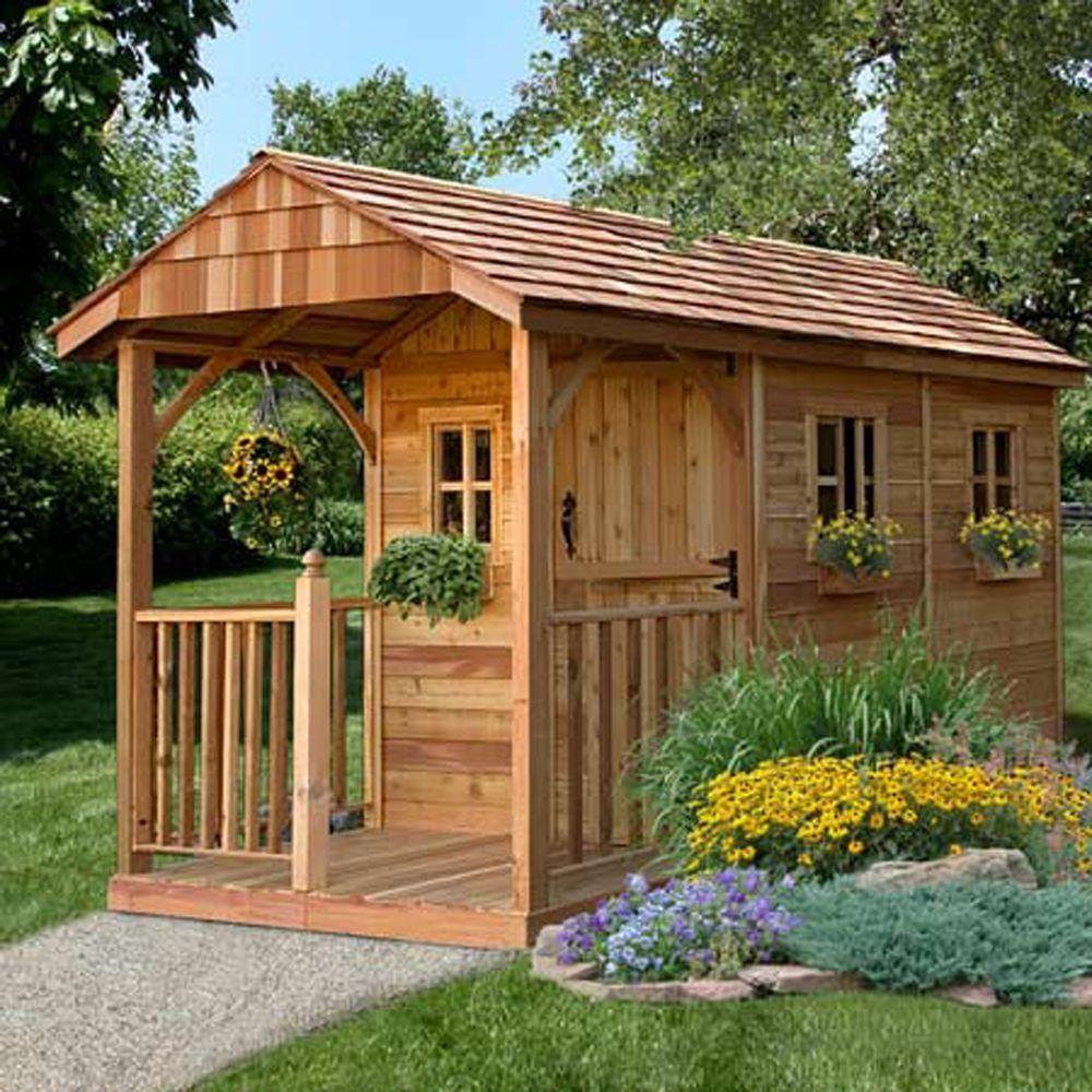Outdoor Living Today Santa Rosa 12 ft. x 8 ft. Cedar Garden Shed ...