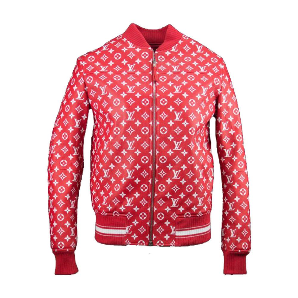 Louis Vuitton x Supreme Red/White Men's Bomber Leather