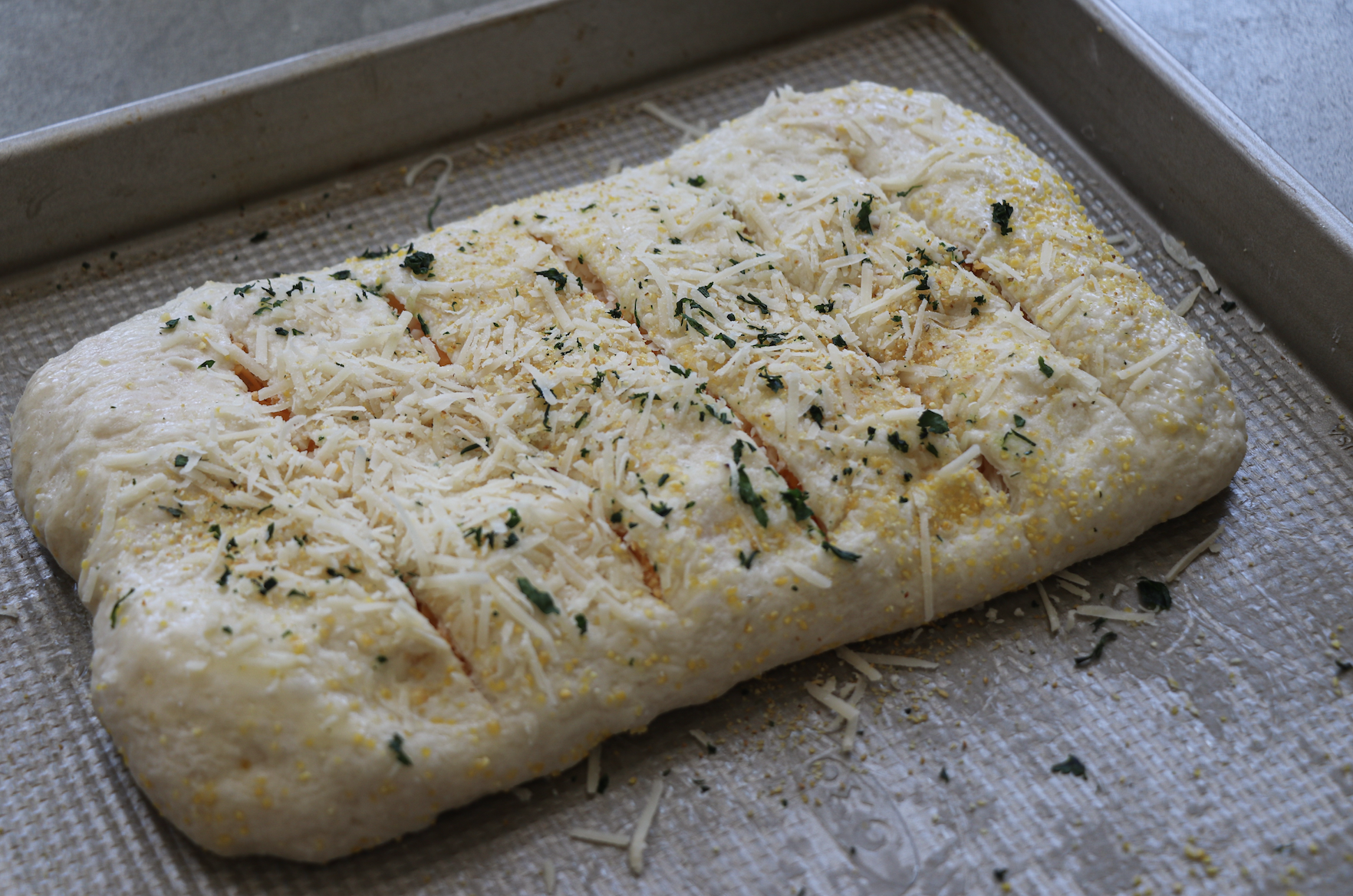 Stuffed Cheesy Bread Is Garlic And Cheese Stuffed Between Layers Of Homemade Dough It Is Pure Goodness That Is Tota Recipes Cooking Recipes Easy Family Meals