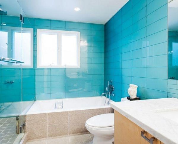 Fliesenfarbe passend aussuchen oder selber streichen! Pinterest - badezimmer fliesen beispiele