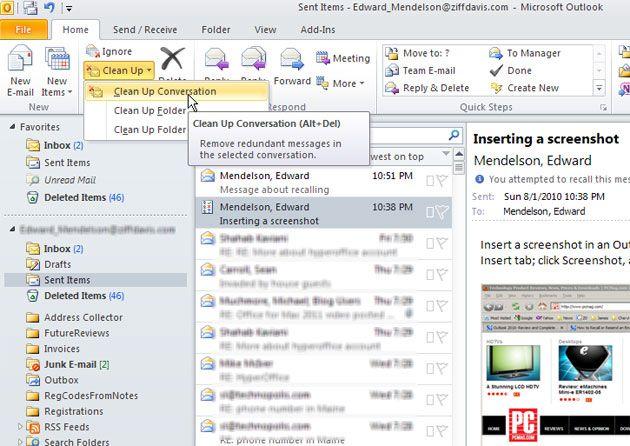 Ten simple helpful microsoft outlook 2010 tips work pinterest microsoft outlook hacks - Office messaging software ...