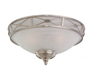 1930 39 S Ceiling Light Fixture Monte Carlo Brushed Steel Finish Bathroom