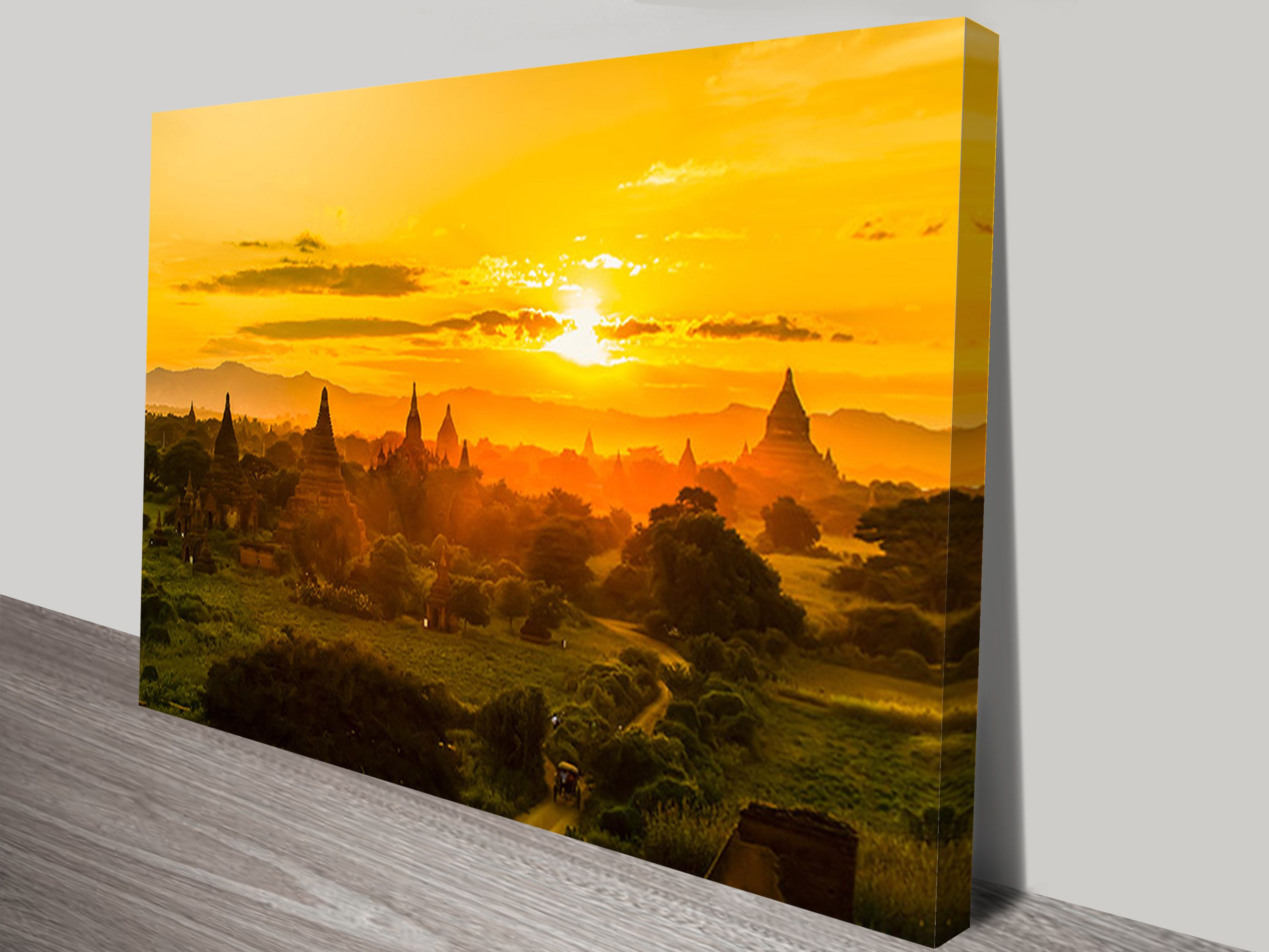 This is a Canvas Print of the Tung Pagoda in Myanmar. One of our new ...