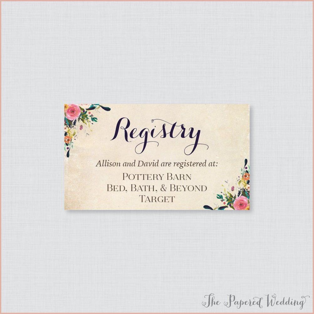 14 Impressive Registry On Wedding Invitation You Ll Want To Copy Immediately