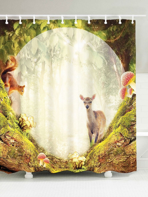 Bathroom Waterproof Secret Garden Sheep Shower Curtain