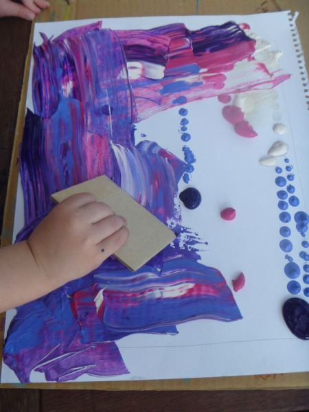Swipe art learning art activities crafts - Maltechniken kindergarten ...