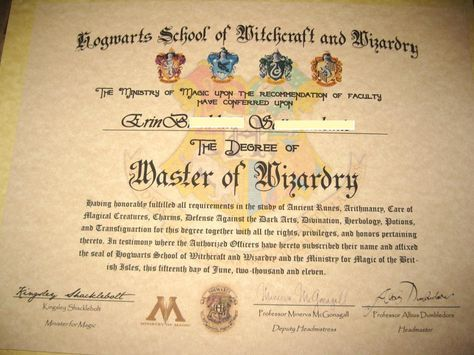 make your own harry potter hogwarts diploma acceptance letter owl