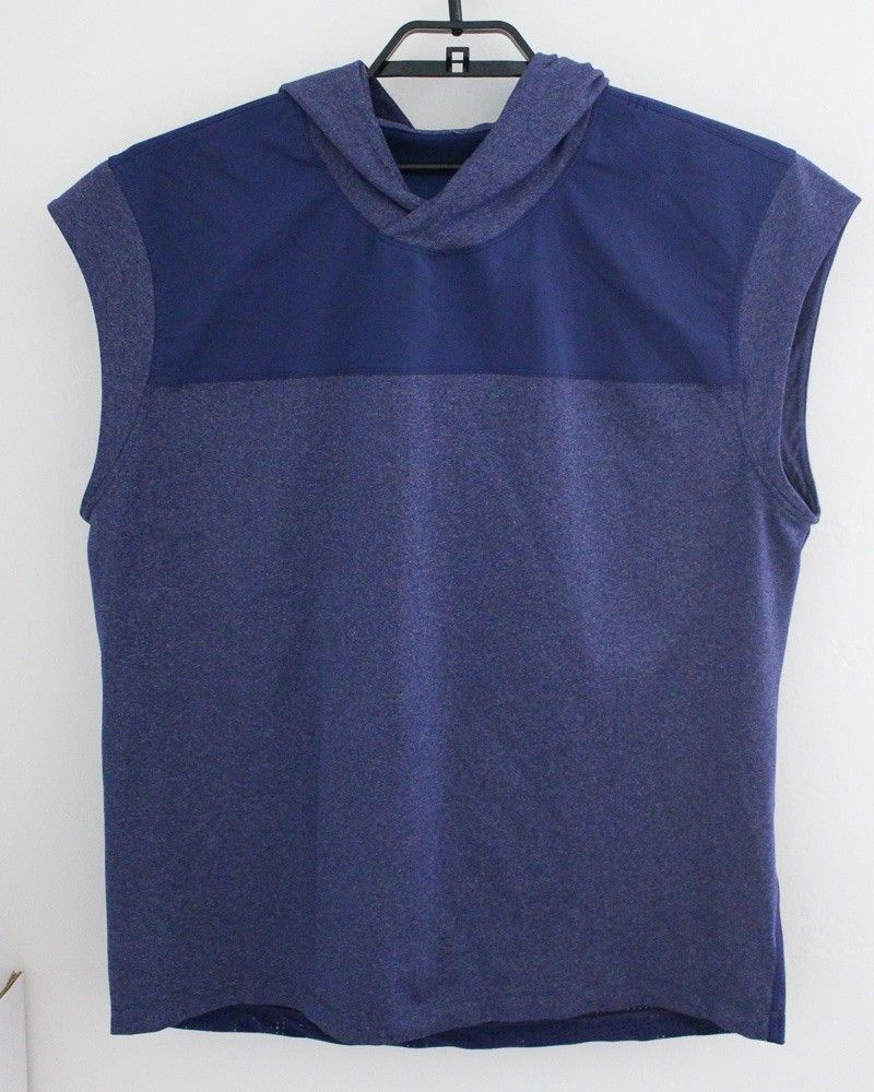 925d04a8b67e6a Lululemon Mens Pullover Stealth Hooded Sleeveless Top Large Blue Relaxed  Fit  fashion  clothing