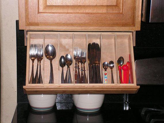 Silverware Drawer Under Cabinet Storage And Flatware