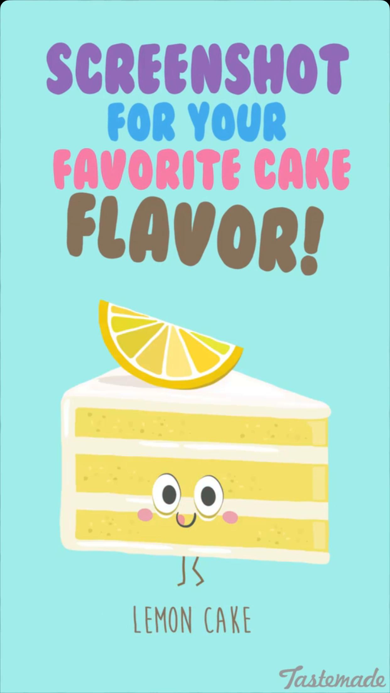 Tastemade Media Illustrations On Snapchat Lemon Cake Drawing