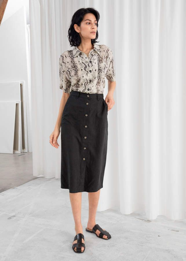 c1ea6bb34 And other stories Lyocell Blend Pencil Midi Skirt in 2019 | Products ...