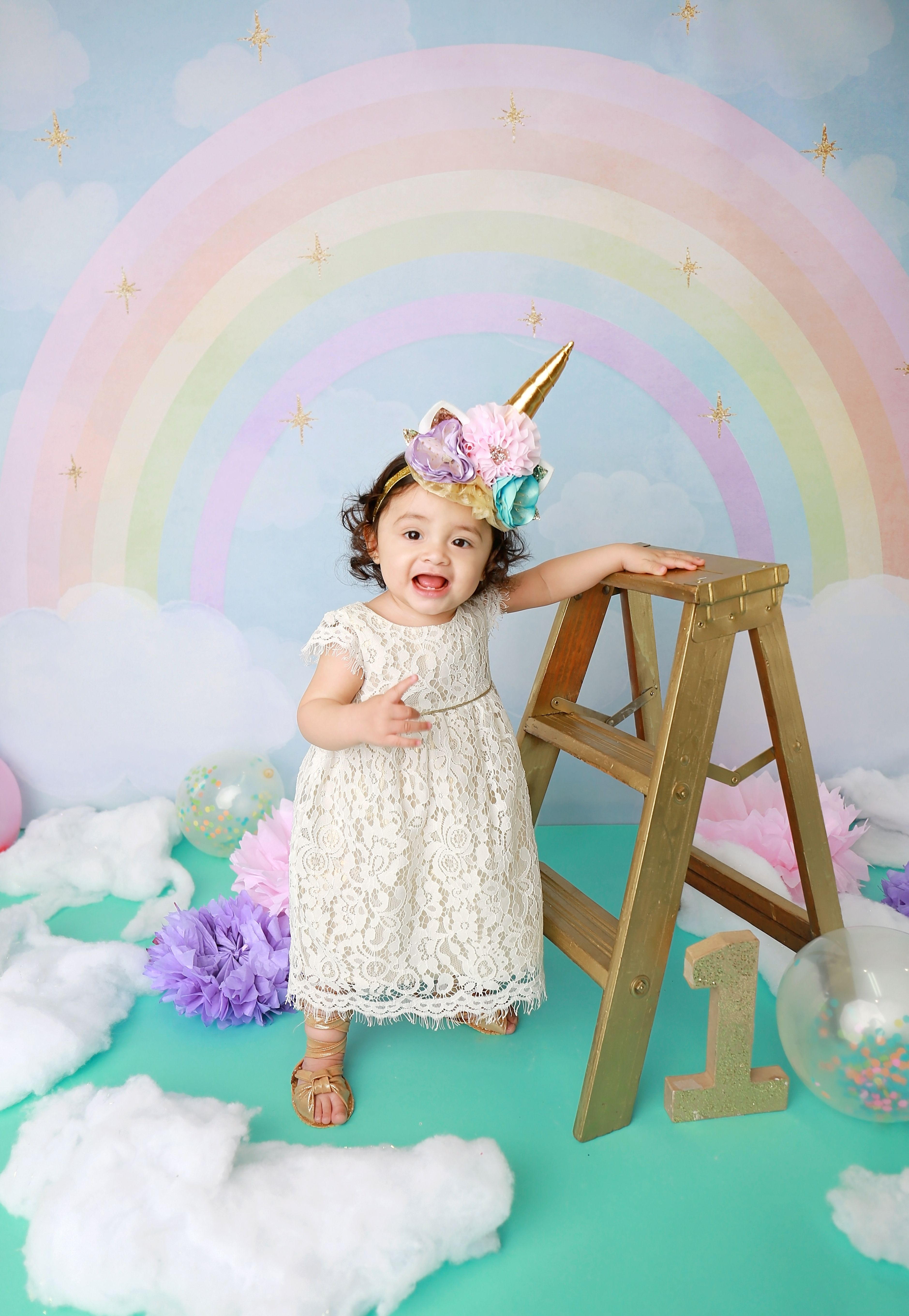 Unicorn themed birthday party photo session