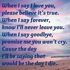 When you marry someone yiu make a promise to be with them forever that is why if you make a mistake they are with you even in the worse.