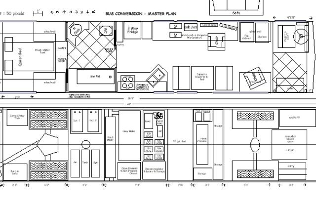 bus home floor plans bus free printable images house plans camper rh pinterest com Plan Bus Stop Bus Plan Photoshop