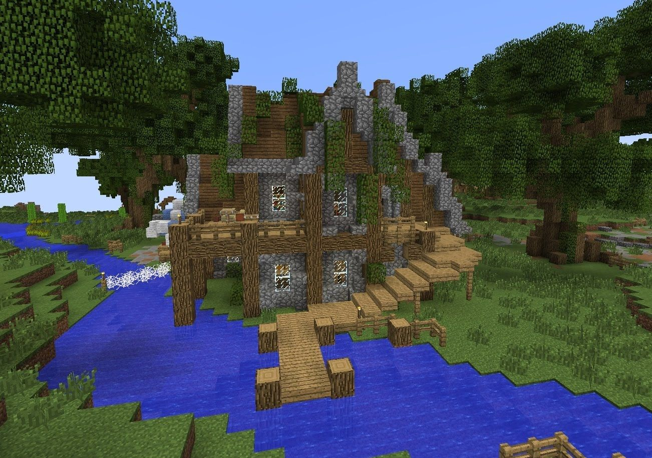 Making This House Took About 35 Minutes In 100 Vanilla Creative