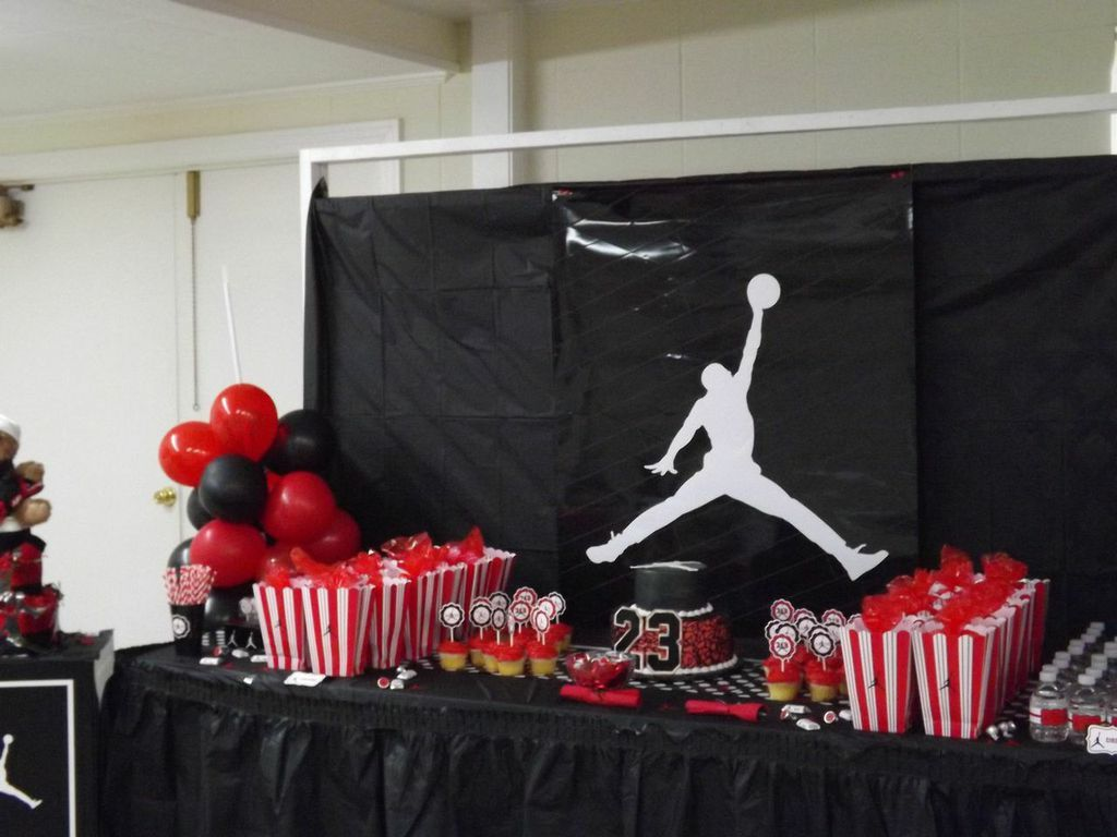 Jumpman Inspired Baby Shower Welcome Baby Axton Baby