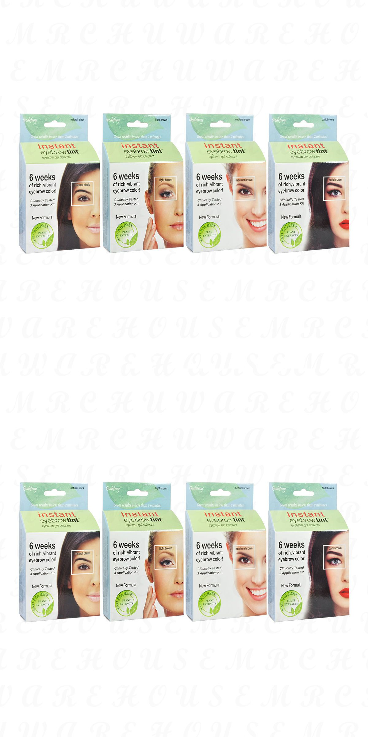Godefroy Instant Eyebrow Tint Natural Gel Colorant 3 Applications