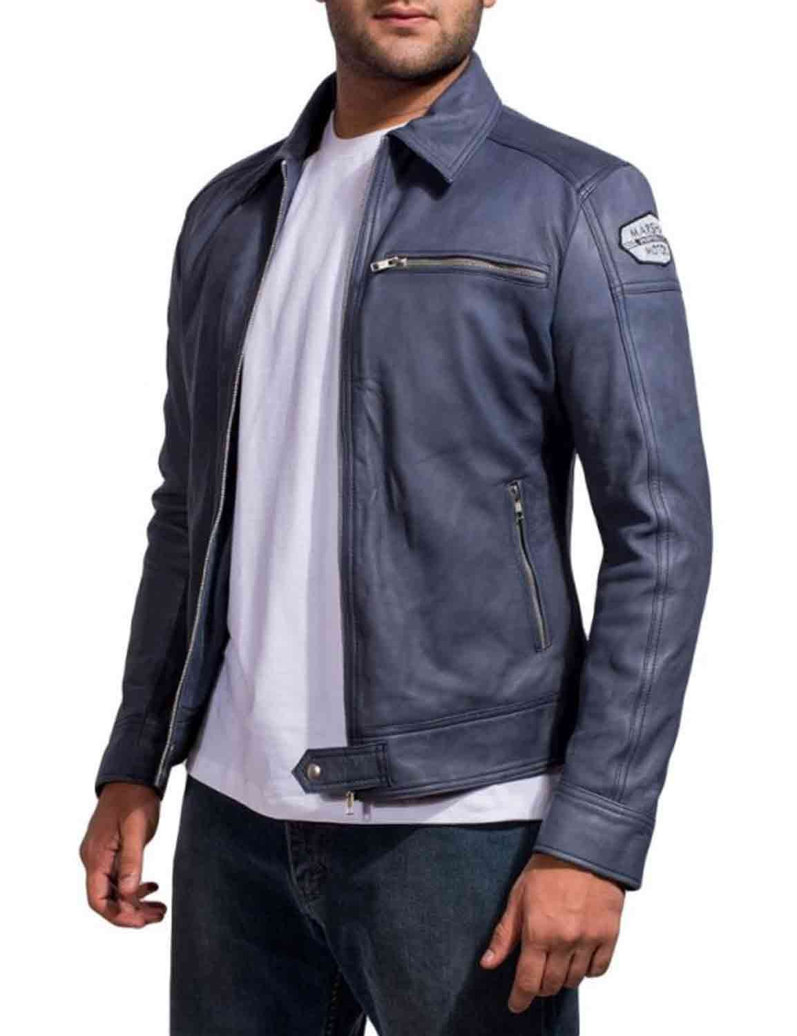 61b6ecdc0a This Need for Speed Jacket is a precisely made replica outfit worn by actor  Aaron Paul in the movie, portraying as the star character Tobey Marshall.