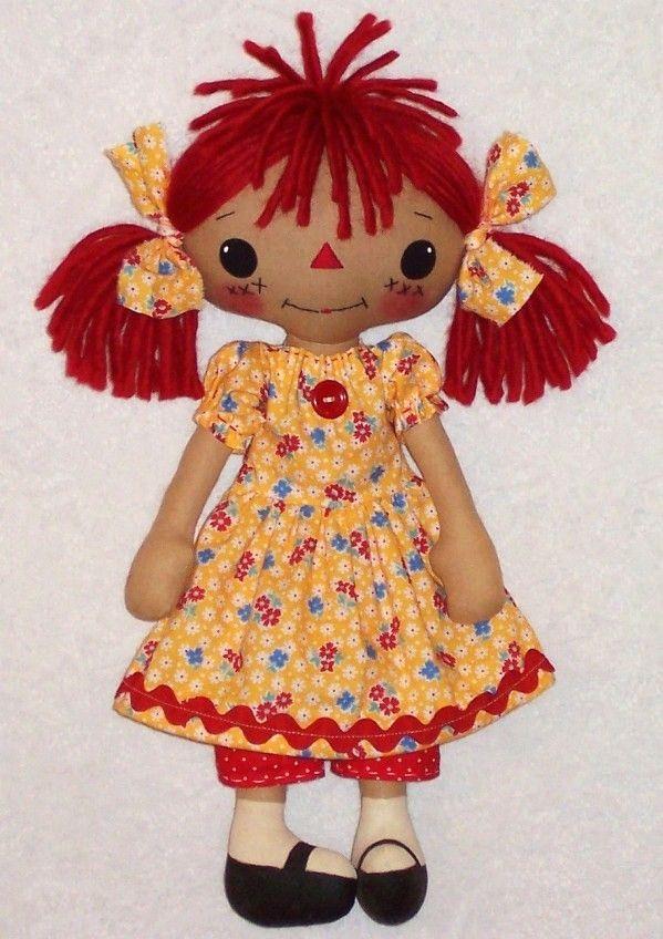 free soft doll patterns | ... Pattern for primitive Raggedy Ann ...