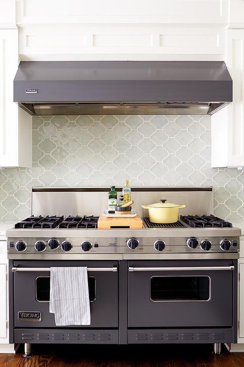 Gray Viking Range Hood And Gray Viking Range Transitional Kitchen Kitchen Renovation Kitchen Design Viking Kitchen