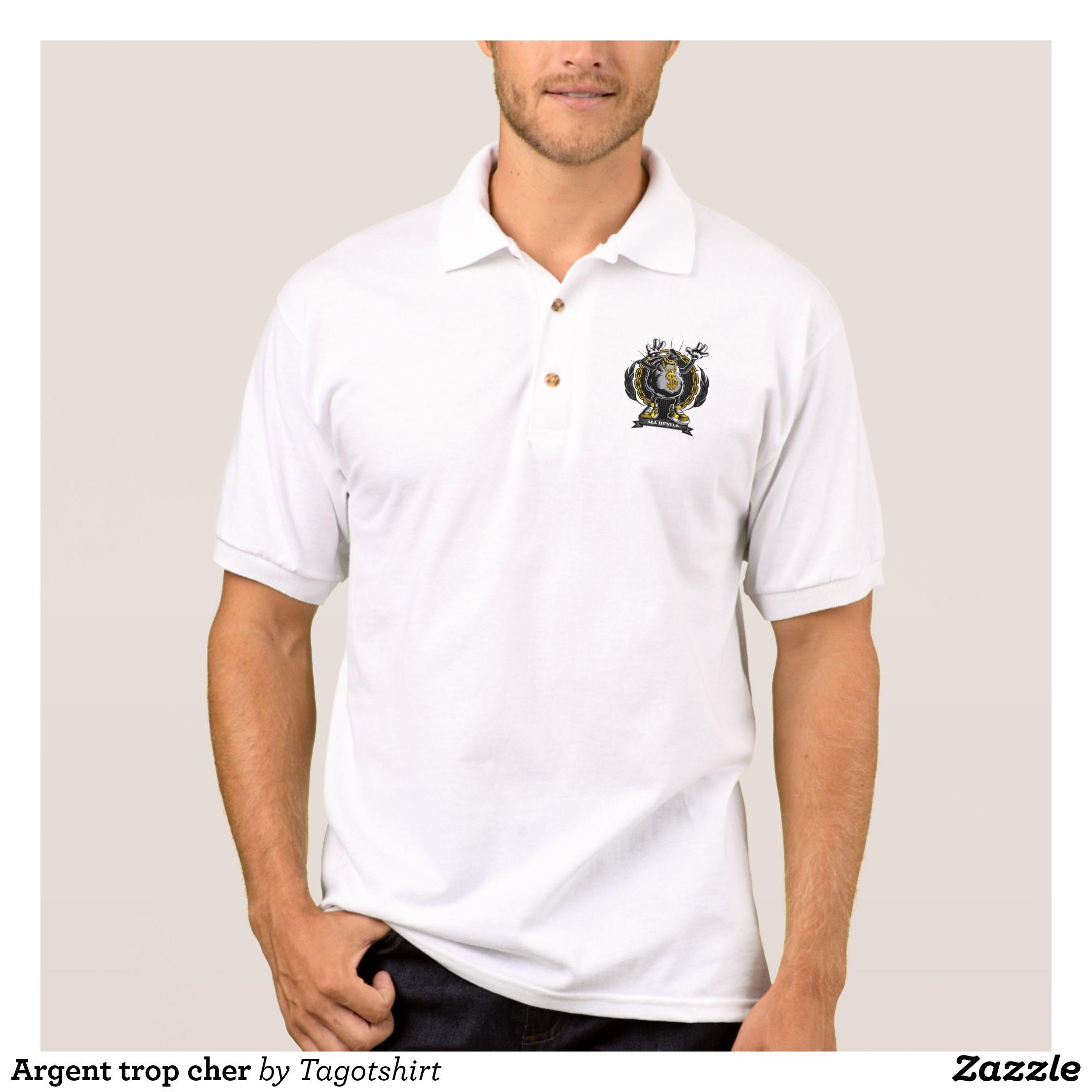 Money Too Expensive Polo Shirt Zazzle Com Mens Polo Shirts Polo Shirt White Polo Shirt