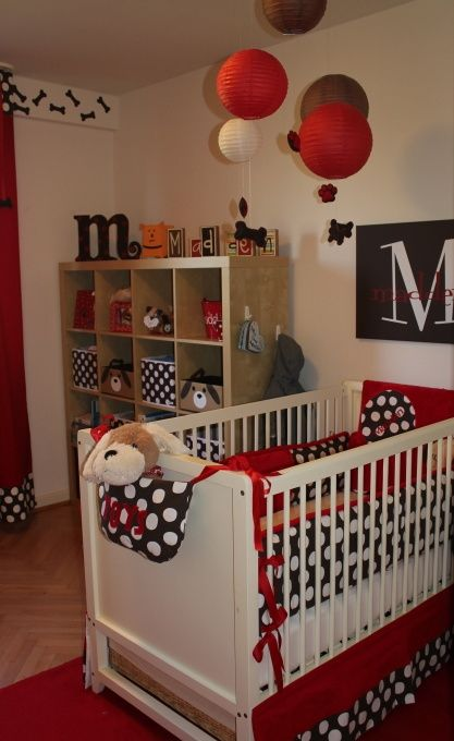 red and black nursery Mixto Pinterest