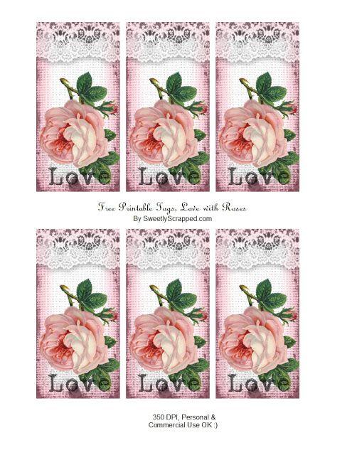 Free Printable Rose Tags