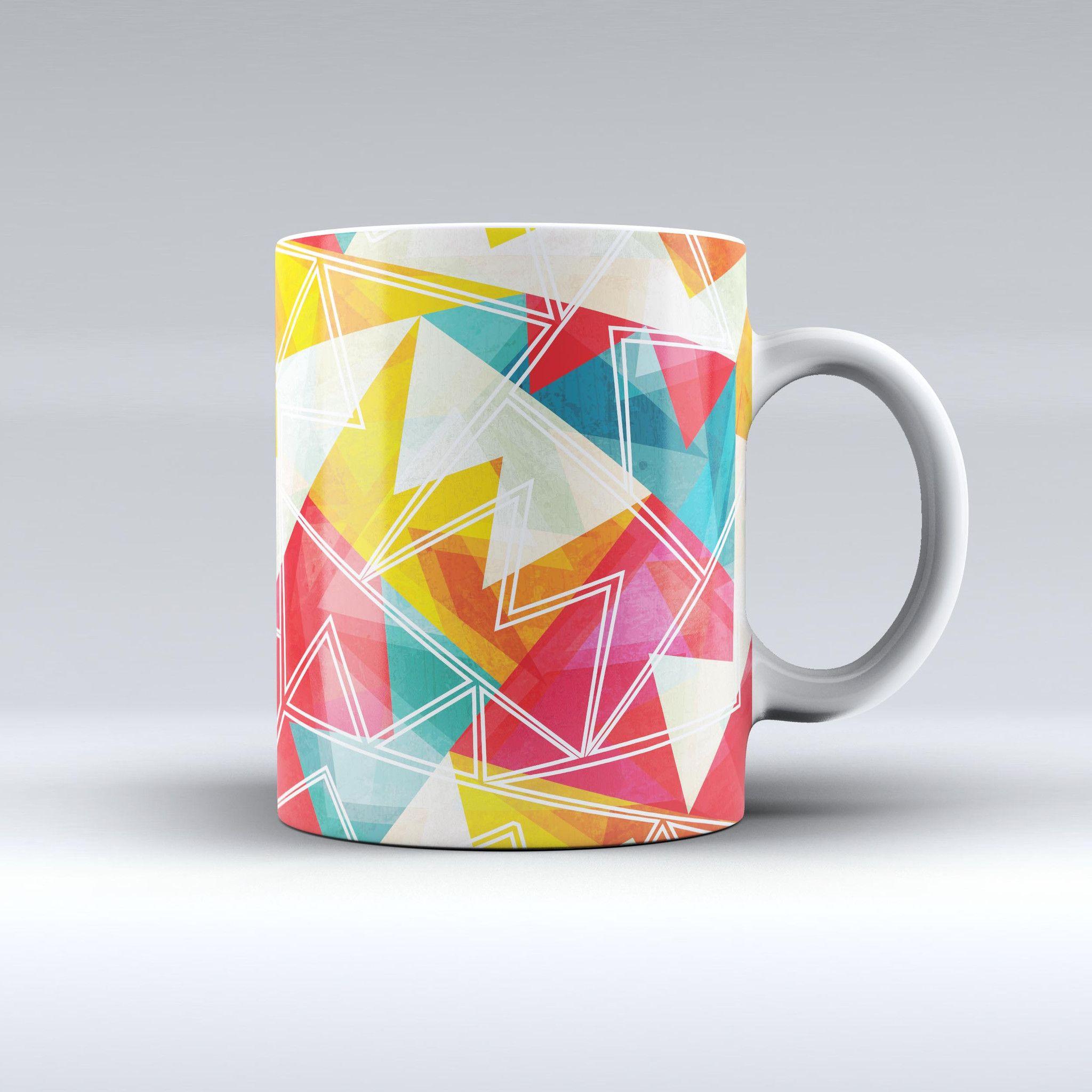 The Vintage Retro Overlap ink-Fuzed Ceramic Coffee Mug from DesignSkinz