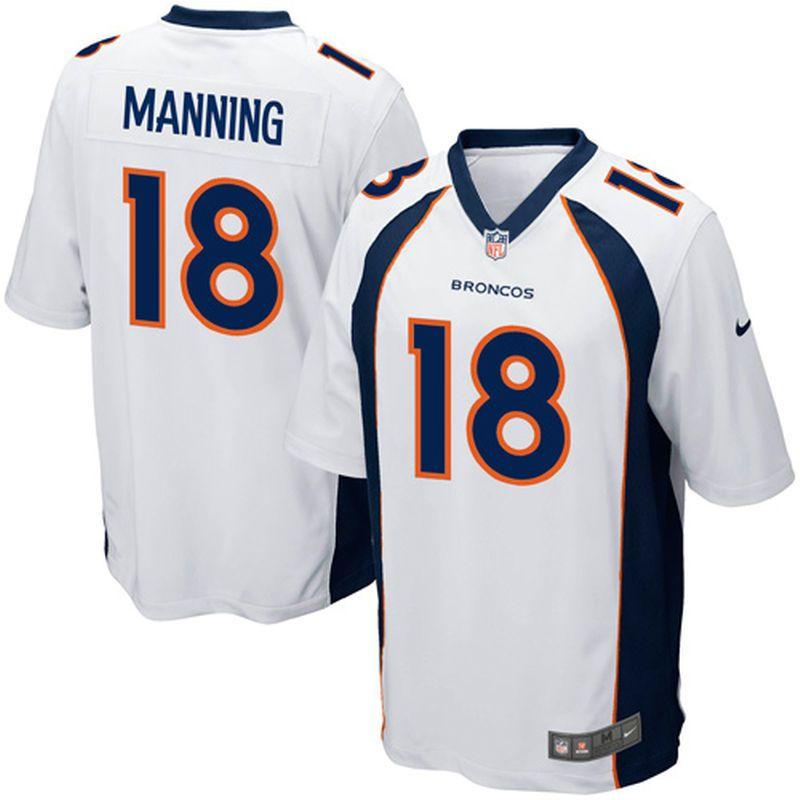 detailed look 48fa4 2d0b0 Peyton Manning Denver Broncos Nike Youth Game Jersey - White ...