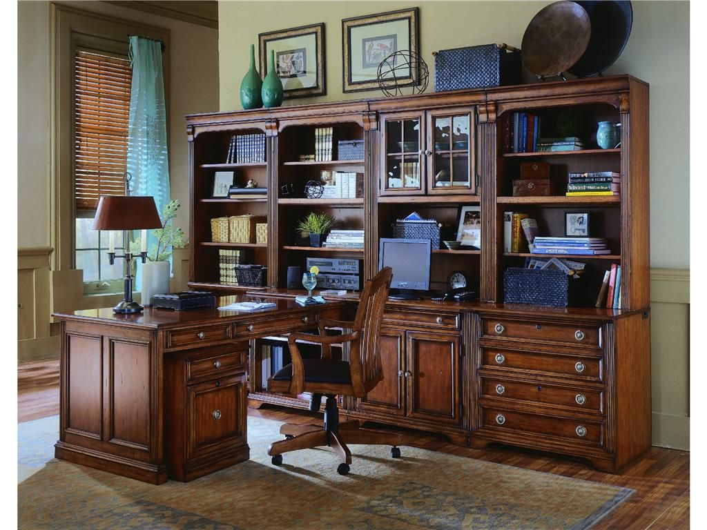 Peninsula desk office furniture - Shop For Hooker Furniture Brookhaven Peninsula Desk And Other Home Office Desks Furniture The Brookhaven Collection Is Crafted From Hardwood Solids With